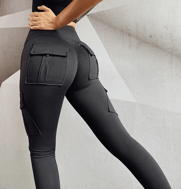 Leggings XS / Black Cargo Pocket Leggings shop high quality cheap leggings