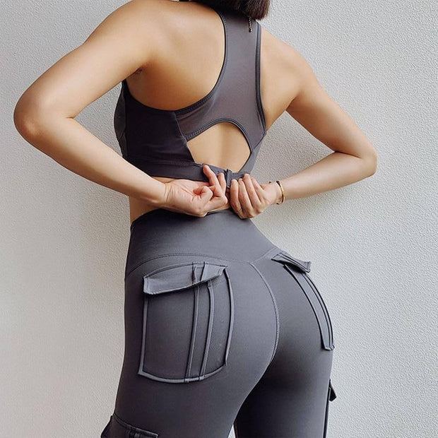Leggings XS / Grey Cargo Pocket Leggings shop high quality cheap leggings