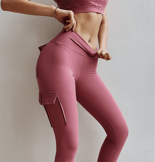 Leggings XS / Pink Cargo Pocket Leggings shop high quality cheap leggings