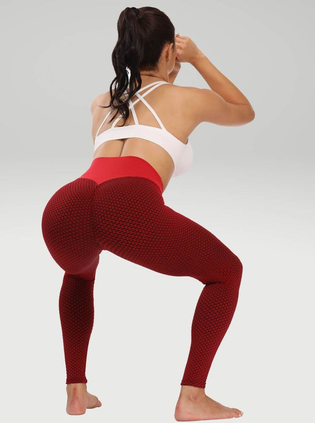 Leggings XS / Red Moderne Textured Lift Leggings shop high quality cheap leggings