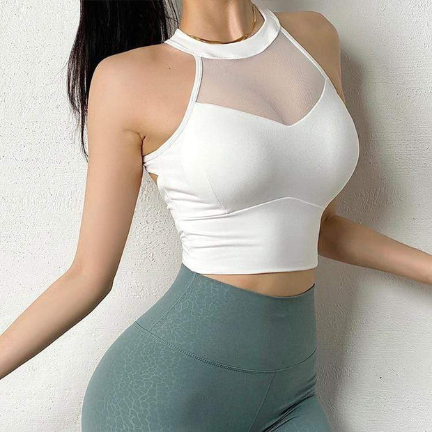 Tops S / White Moderne Mesh Sports Crop shop high quality cheap leggings