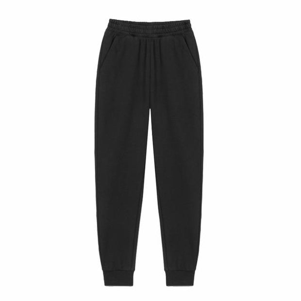 Urban Society Basics Black / S Classic Pleated Sweatpants shop high quality cheap leggings