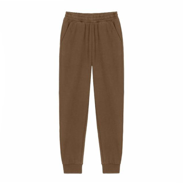 Urban Society Basics Brown / S Classic Pleated Sweatpants shop high quality cheap leggings