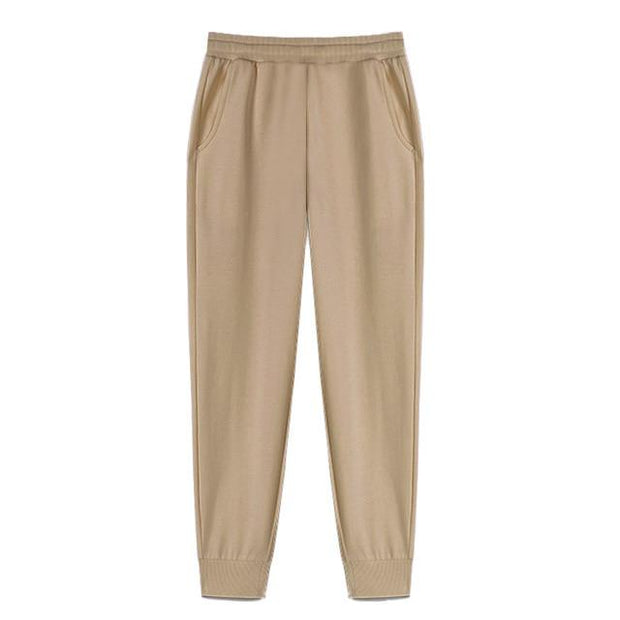 Urban Society Basics Khaki / S Classic Pleated Sweatpants shop high quality cheap leggings