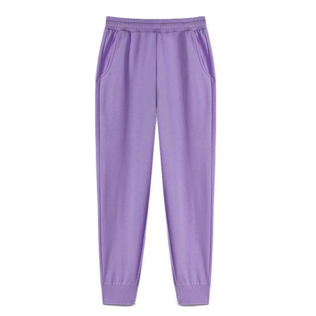Urban Society Basics Purple / S Classic Pleated Sweatpants shop high quality cheap leggings