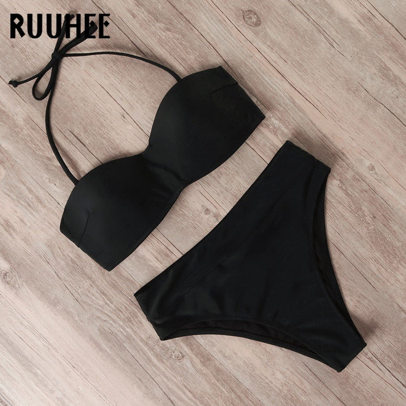 Swimwear Bandage High Waist Bikini