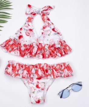 Floral Printed Bikini Set Swimsuit