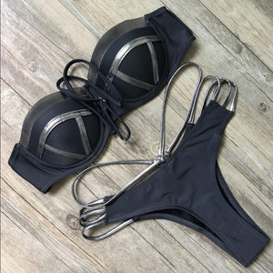 Black Bandage Swimsuit Sexy Brazilian