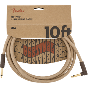 Fender Festival Hemp Cable 3m (10ft) Angled Lead