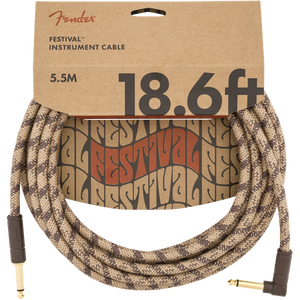 Fender Festival Hemp Cable 6m (18.6ft) Angled Lead