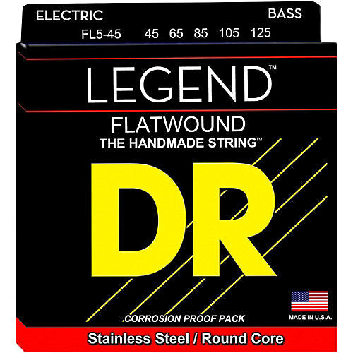 DR Legend Flat wound 5 string set