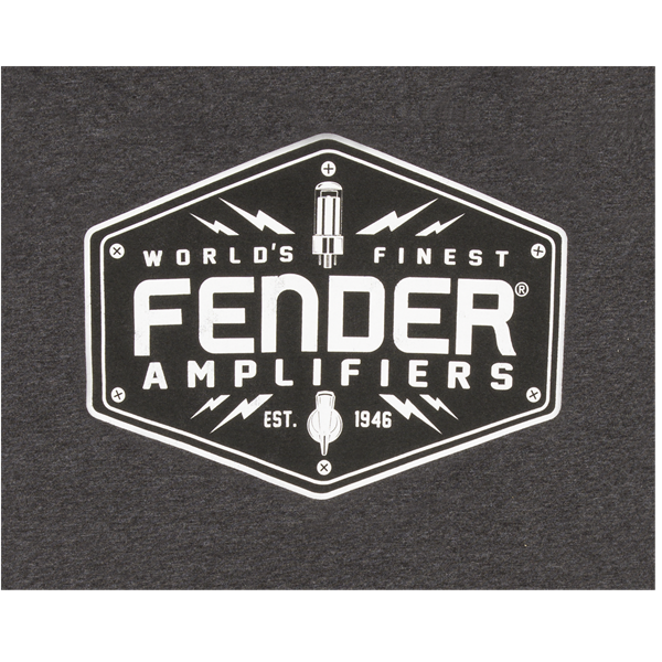 Fender Bolt Down Charcoal T-Shirt