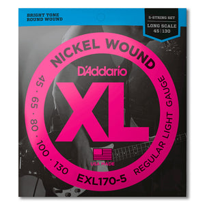 D'Addario XL Nickel Wound 5 String