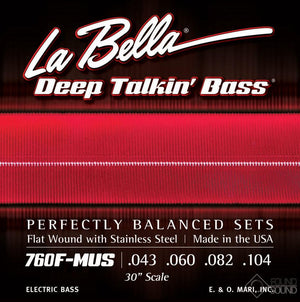 La Bella 760F-MUS 30' scale Flatwounds Mustang Bass