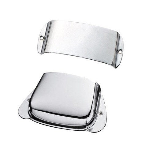 Fender Precision Bass Chrome Cover Set , Bridge/Pickup - Bass Centre