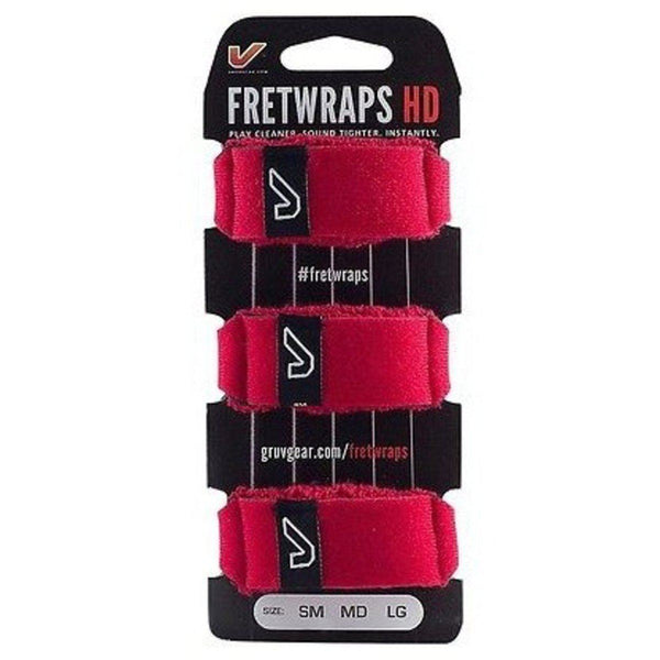 Accessories - Gruv Gear Fret Wraps. 3 Pack, COLOURED