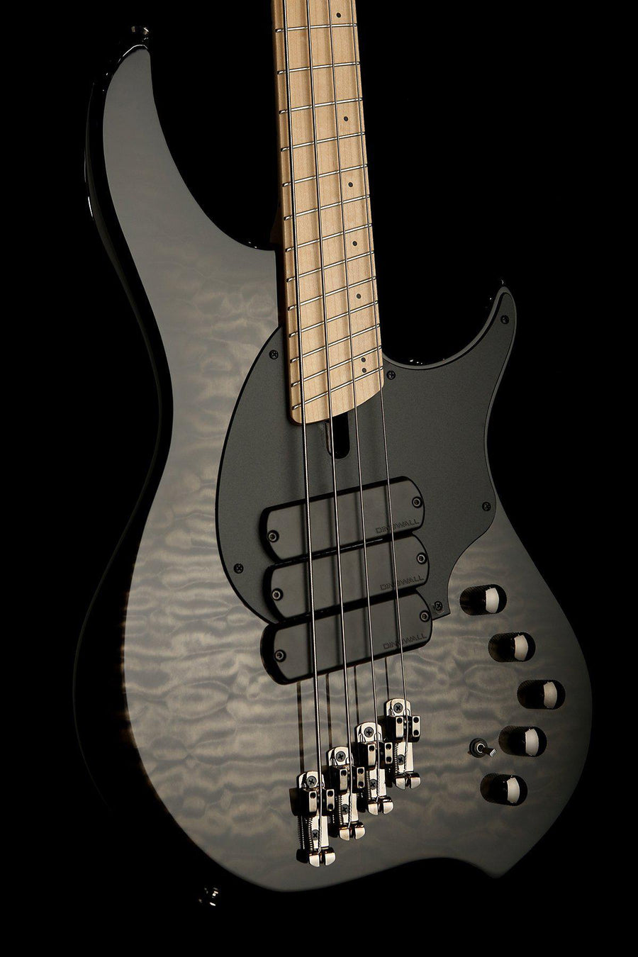 Bass Guitars - 2019 Dingwall Combustion 4 Quilt Top 3X Trans Black