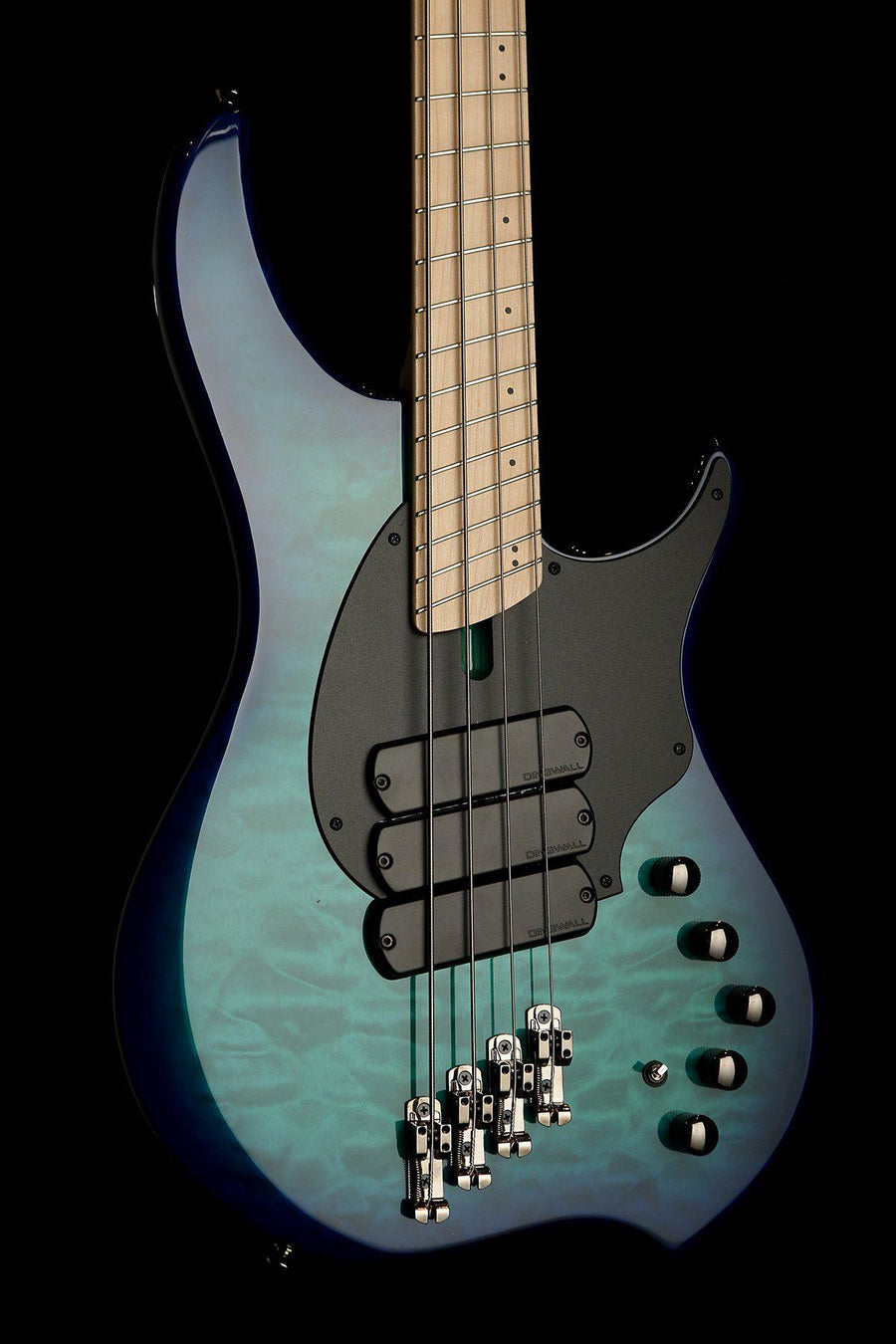 Bass Guitars - 2019 Dingwall Combustion 4 Quilt Top 3X Whalepool Burst
