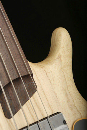 Bass Guitars - Cort  B4 Plus Fretless Bass, Open Pore Natural