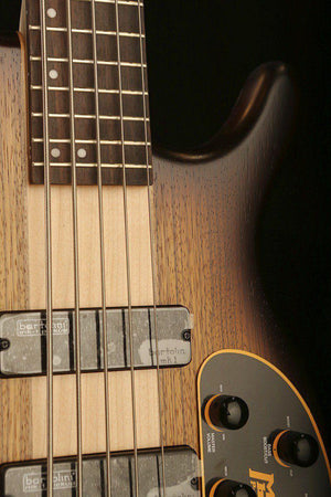Bass Guitars - Cort C5 Plus, Tobacco Burst