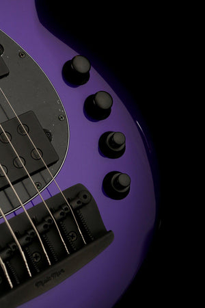 Bass Guitars - Ernie Ball Music Man Bongo 6 HH Firemist Purple