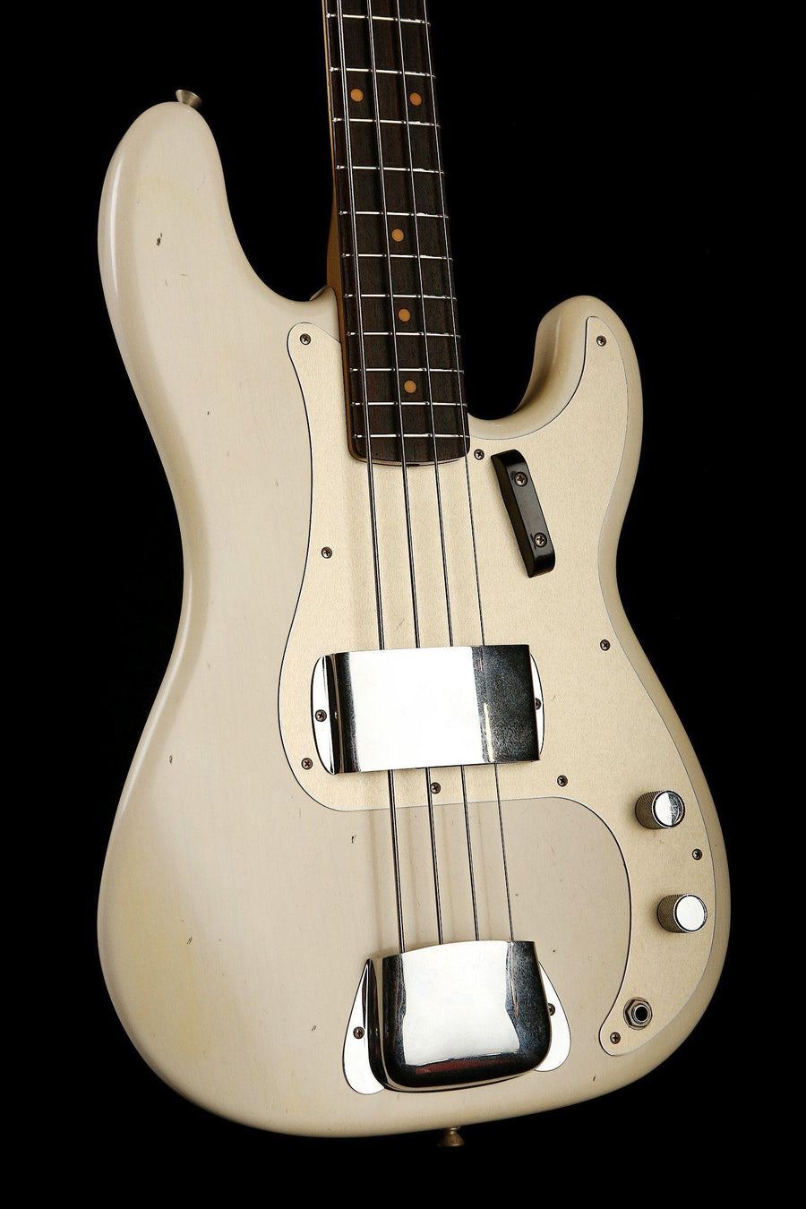 Bass Guitars - Fender Custom Shop 1959 Journeyman Relic Precision Bass Blonde W/Case