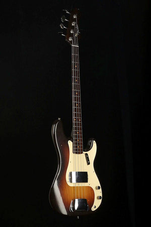 Bass Guitars - Fender Custom Shop Jouneyman Limited '57 P Bass Choc Faded Sunburst Rosewood Neck