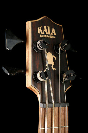 Bass Guitars - Kala U-Bass Exotic Ebony Fretted W/Roundwound Strings