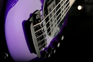 Bass Guitars - Musicman Bongo 5 HH Firemist Purple