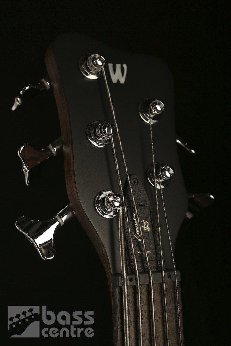 Bass Guitars - Warwick German Pro Series Corvette 5 Double Buck Nirvana Black