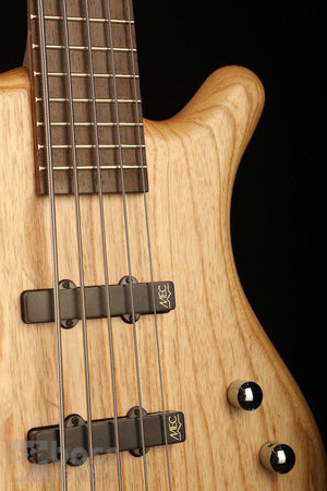 Bass Guitars - Warwick German Pro Series Corvette 5 String, Natural Ash W/Gigbag