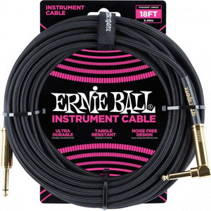Ernie Ball 18' Braided Cables