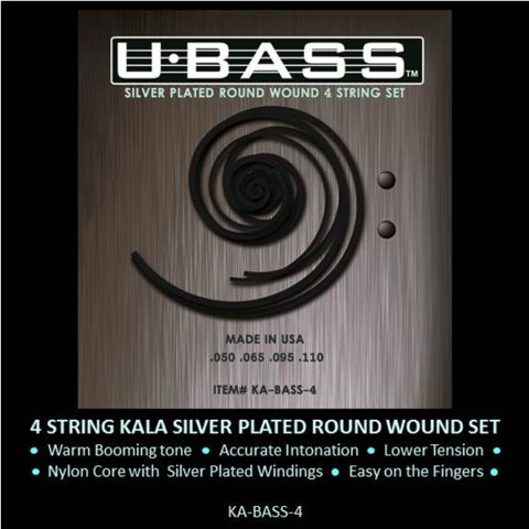 Strings - U-Bass Silver Plated Round Wound 4 String Set