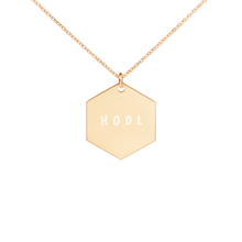 Load image into Gallery viewer, HODL Hexagon Necklace