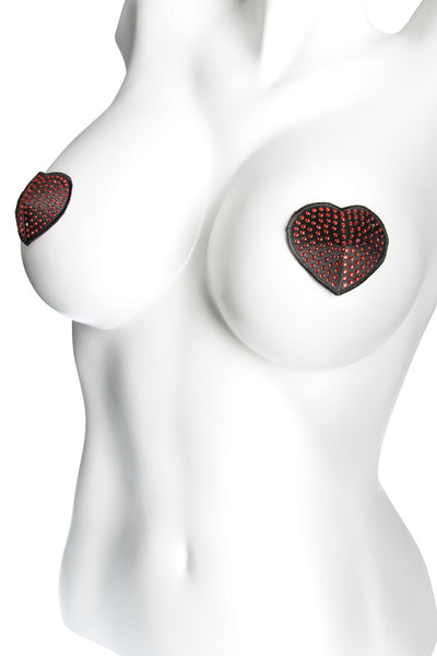 pasties, CQ1739 - 1 Pair. Heart Shape Sequin Pasties With Reusable Self Adhesive Backing. - Lavender's Dream