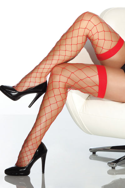 stockings, CQ1769 - 1 Pair. Fence Net Thigh High Stockings. - Lavender's Dream
