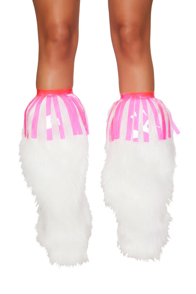boot cuffs, RM3242 Vinyl Fringe Leg Wrap - Lavender's Dream