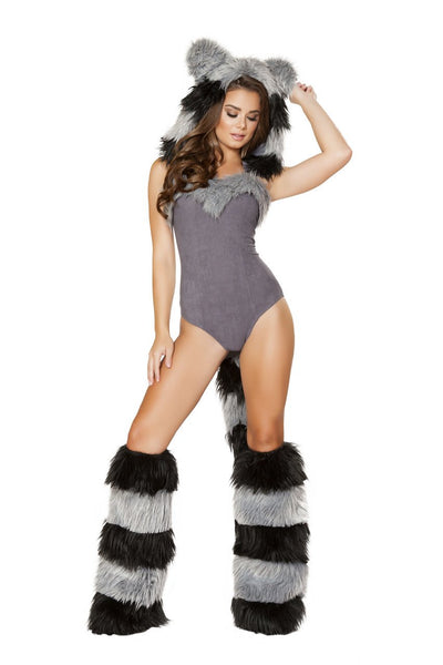 womens costume, RM4719 - 1pc Furry Raccoon Costume - Lavender's Dream