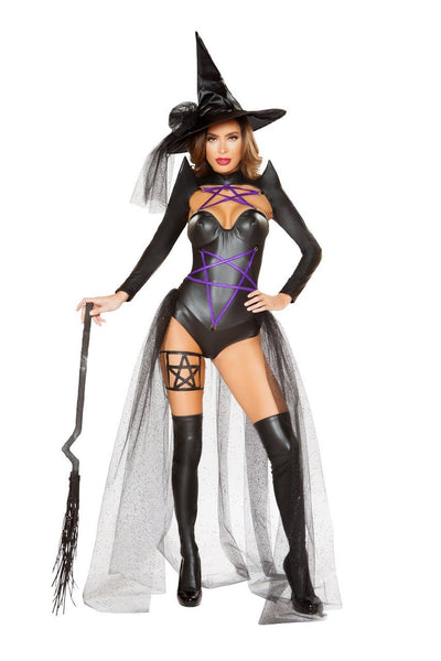 womens costume, RM4793 - 2pc Dark Witch Women's Costume - Lavender's Dream