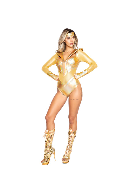 womens costume, RM4991 - 2pc Gold Heroine Women's Costume - Lavender's Dream