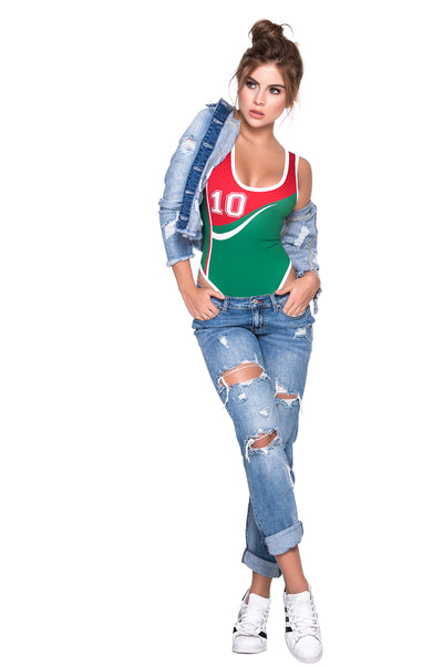 bodysuit, MP6353 - World Cup Mexico Bodysuit - Lavender's Dream