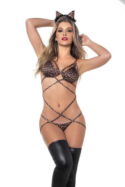 bedroom costume, MP6392 - Cheetah costume with bodysuit, tail and headpiece - Lavender's Dream