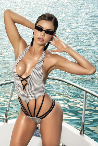 one piece swimsuit, MP6528 - Monokini One Piece Swimsuit - Lavender's Dream