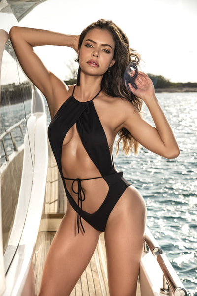one piece swimsuit, MP6536 - Monokini One Piece Swimsuit - Lavender's Dream
