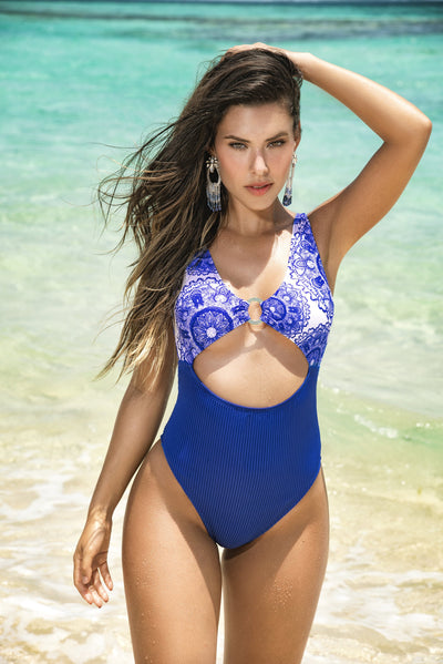 one piece swimsuit, MP6569 - One Piece Swimsuit - Lavender's Dream