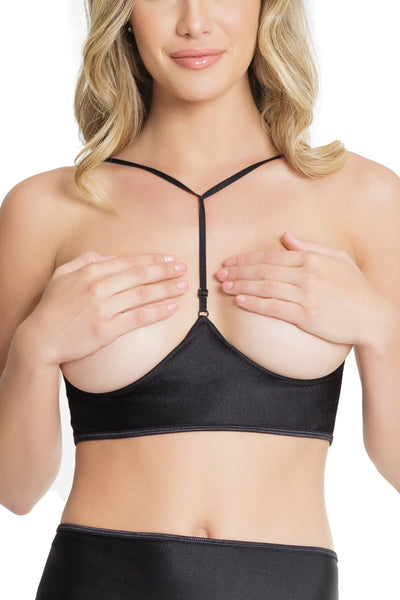 bra, CQ7238 - Underbust bra with Adjustable t-back and Center front hook and eye closure - Lavender's Dream