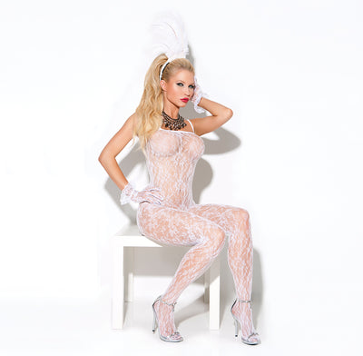 bodystocking, EM8596- Sexy Lace Bodystocking Lingerie - Lavender's Dream