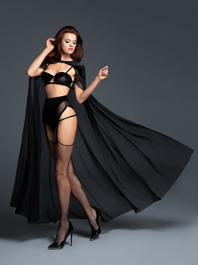 cape, A1051 - Adore Chloe The Kiss Me Again Sheer Cape - Lavender's Dream