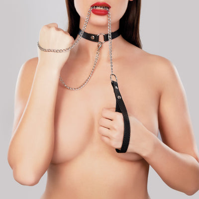 bondage set, A1086 - Adore Collar With Detachable Leash - Lavender's Dream