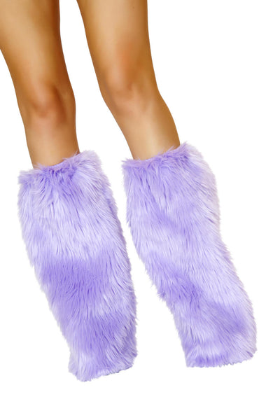 leg warmers, RMC121 Fur Boot Covers - Lavender's Dream